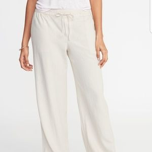 Old Navy Size XL beige wide leg linen pants nwt